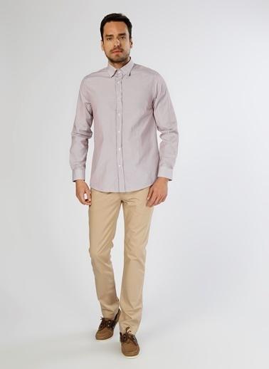 Cotton Bar Uzun Kollu Gömlek Bordo